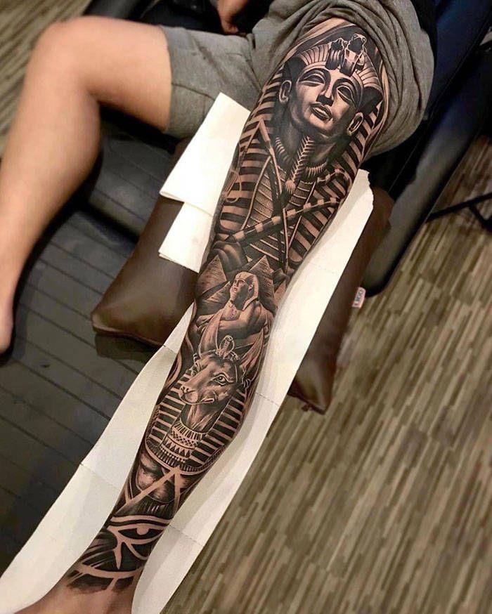 Algumas das mais incríveis tatuagens de pernas (43 fotos) 27