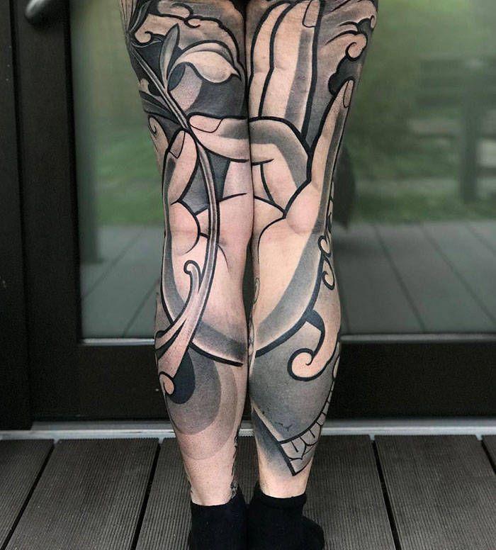 Algumas das mais incríveis tatuagens de pernas (43 fotos) 40