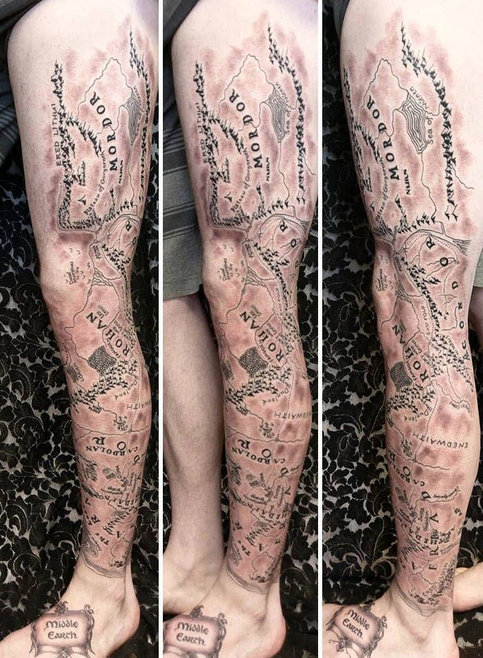 Algumas das mais incríveis tatuagens de pernas (43 fotos) 41