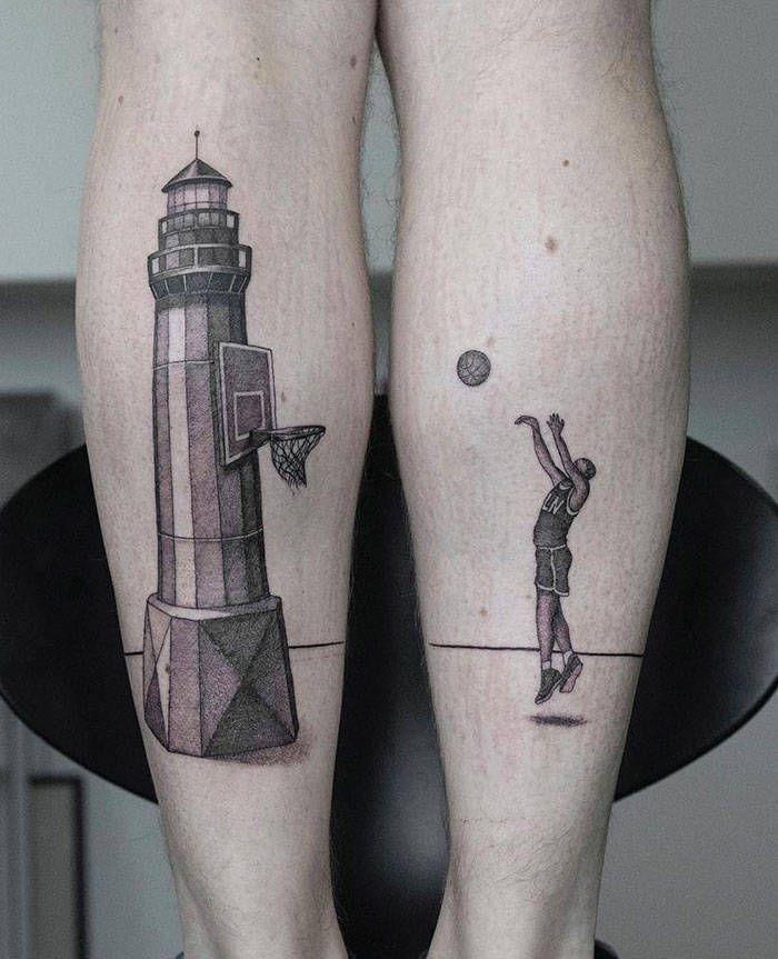 Algumas das mais incríveis tatuagens de pernas (43 fotos) 43