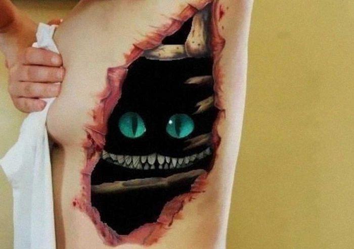 20 tatuagens 3D realísticas somente o mais bravo se atreveria a fazer 5