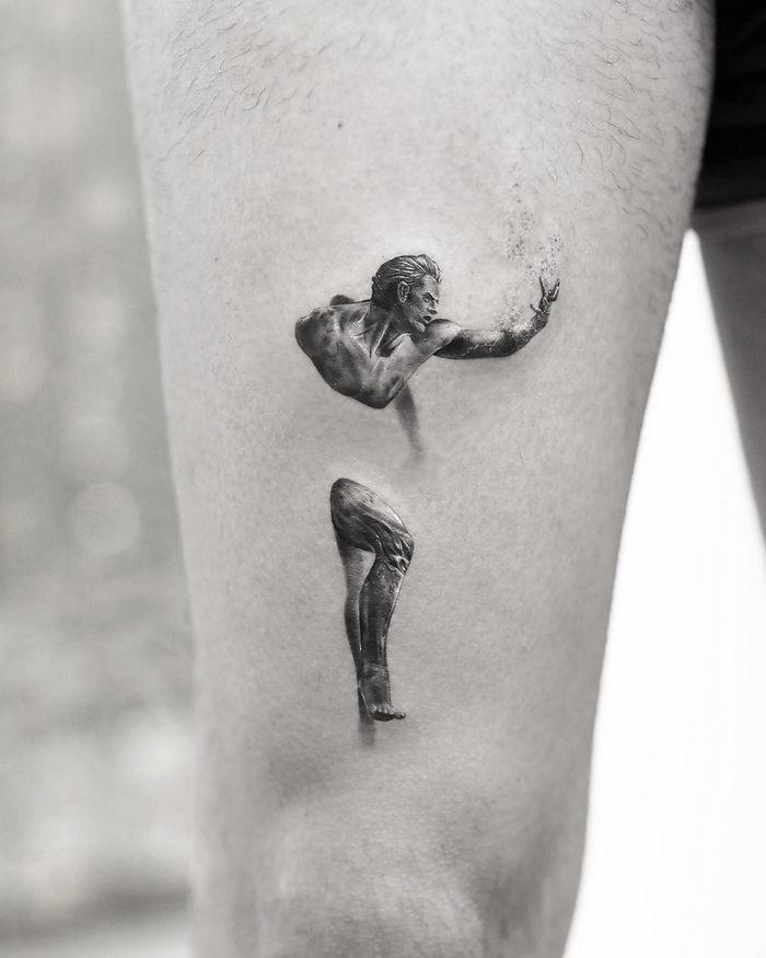 20 tatuagens 3D realísticas somente o mais bravo se atreveria a fazer 19