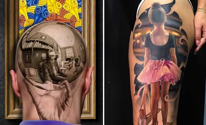 20 tatuagens 3D realísticas somente o mais bravo se atreveria a fazer 1