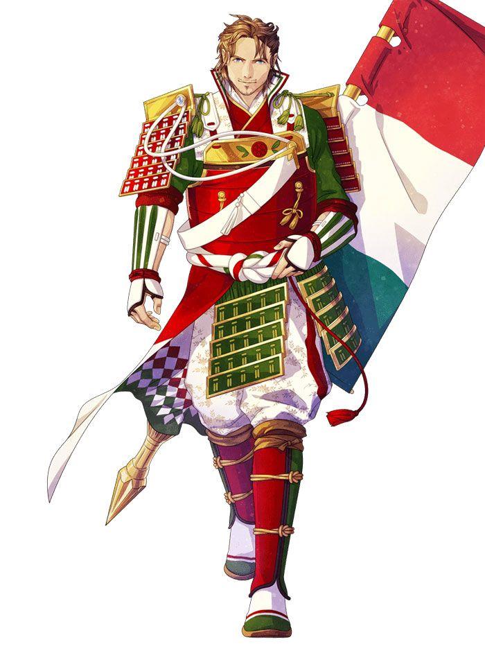 Artistas japoneses reinventam as bandeiras de países como fossem personagens de animes (32 fotos) 3