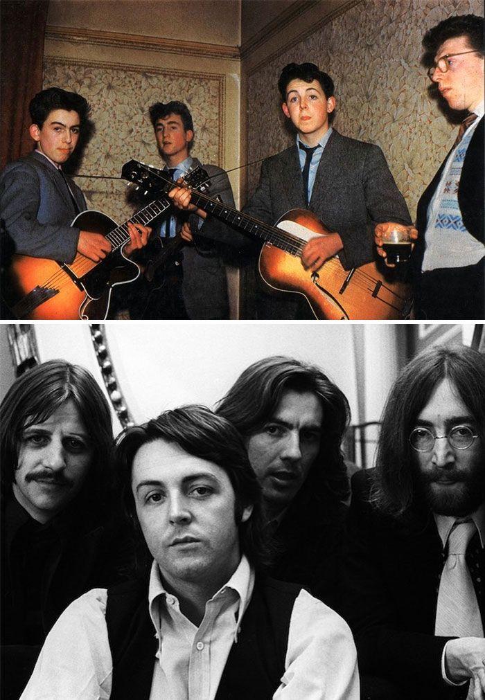 19 fotos de bandas lendárias no início e depois que ficaram famosas 5