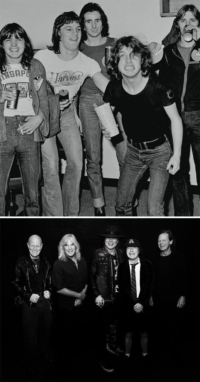 19 fotos de bandas lendárias no início e depois que ficaram famosas 8