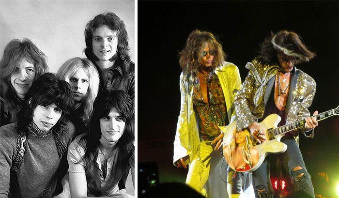19 fotos de bandas lendárias no início e depois que ficaram famosas 18