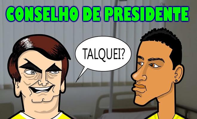 Neymar recebe dicas do Presidente 1