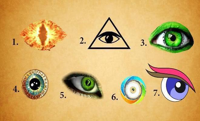O olho que você escolher seu subconsciente tem a dizer sobre você