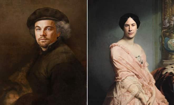 Pinturas clássicas recriadas com celebridades modernas 34