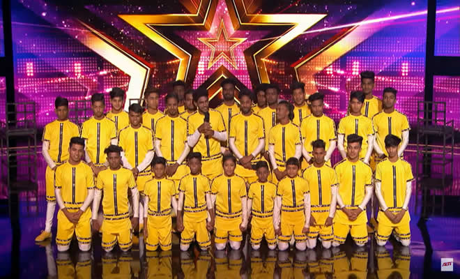 Grupo indiano de dança ganha o botão dourado 2