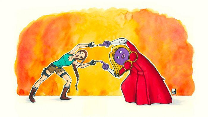 26 personagens de desenhos animados fazendo fusão 8