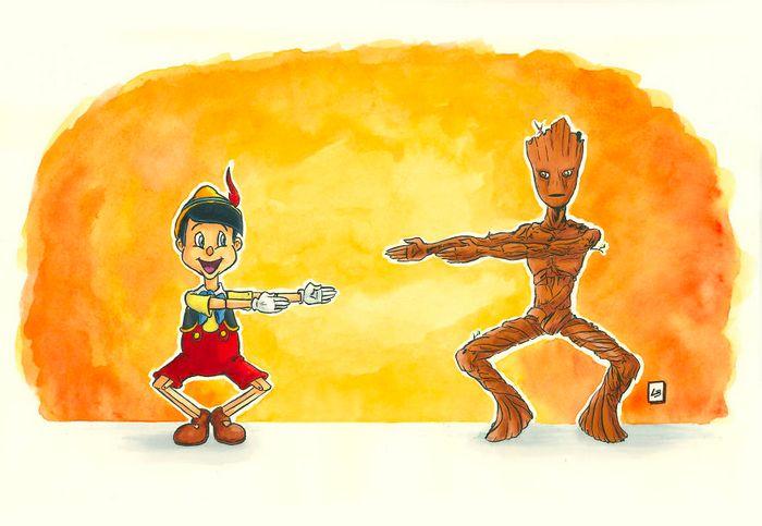 26 personagens de desenhos animados fazendo fusão 14