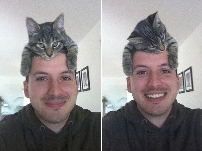 Tendência de moda mais recente: Gatos como chapéus (21 fotos) 15