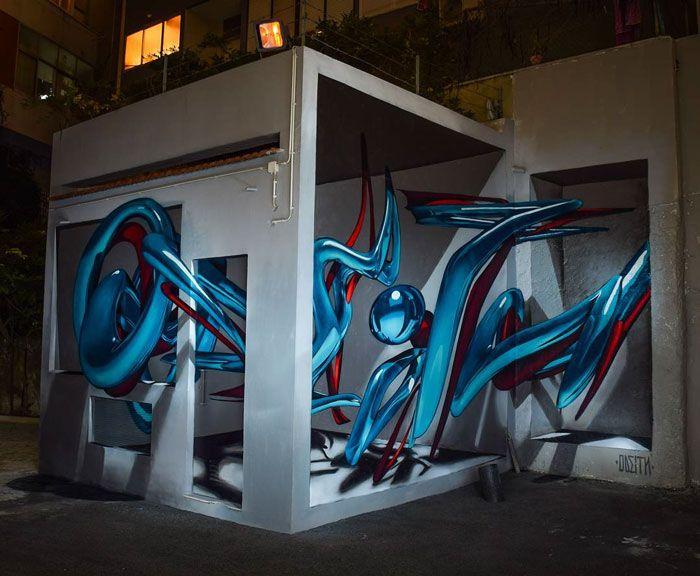 20 arte de rua 3D de cair o queixo por Odeith 25