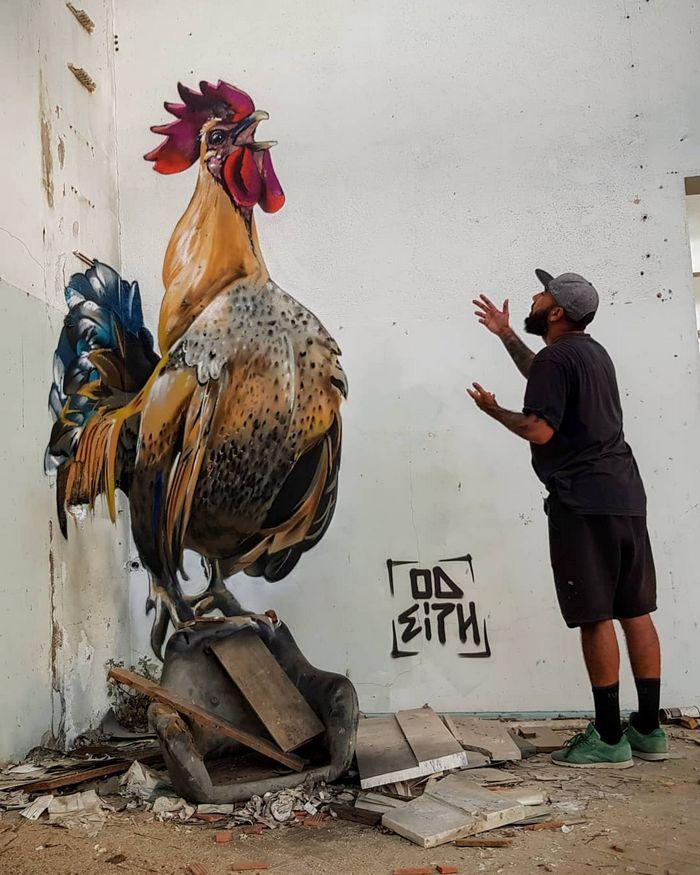20 arte de rua 3D de cair o queixo por Odeith 31