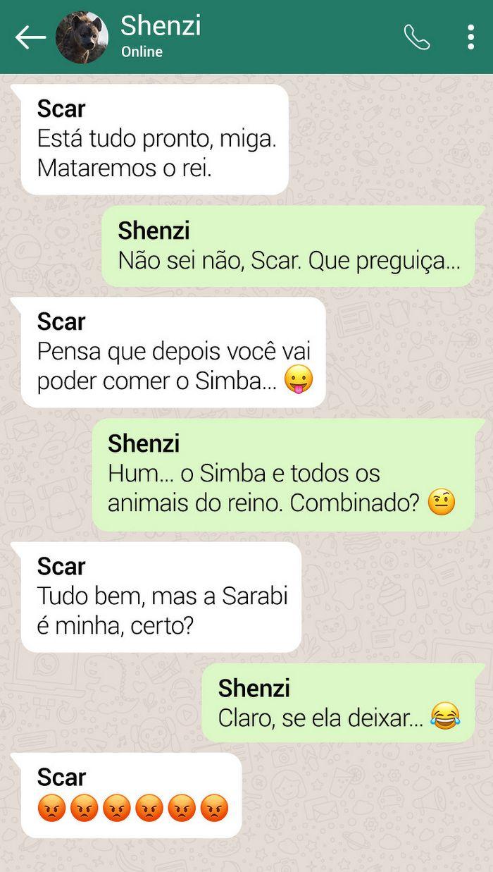 15 conversas dos personagens do Rei Leão pelo WhatsApp 4