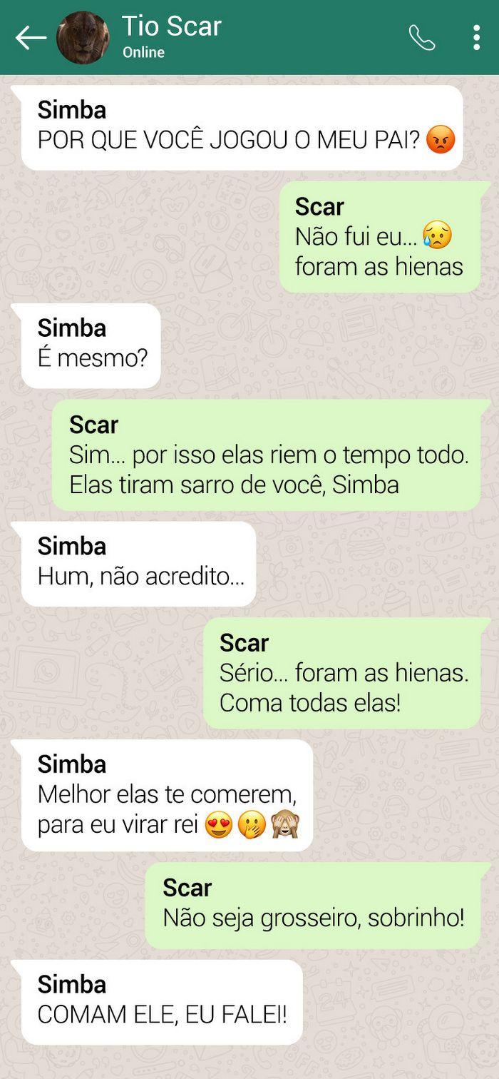 15 conversas dos personagens do Rei Leão pelo WhatsApp 5