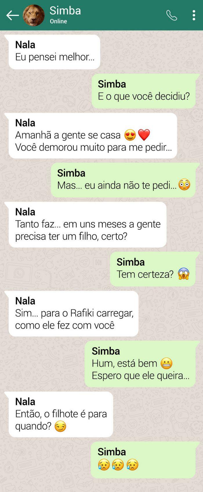 15 conversas dos personagens do Rei Leão pelo WhatsApp 6