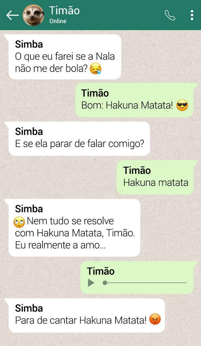 15 conversas dos personagens do Rei Leão pelo WhatsApp 8