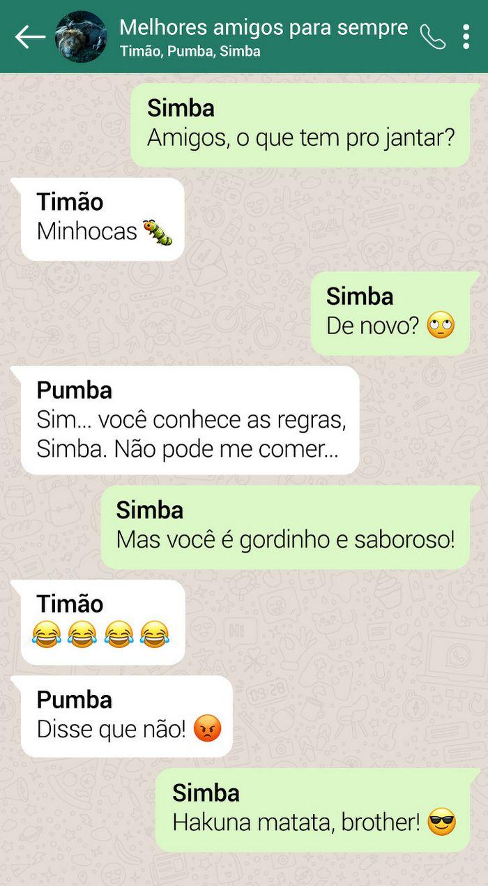 15 conversas dos personagens do Rei Leão pelo WhatsApp 9