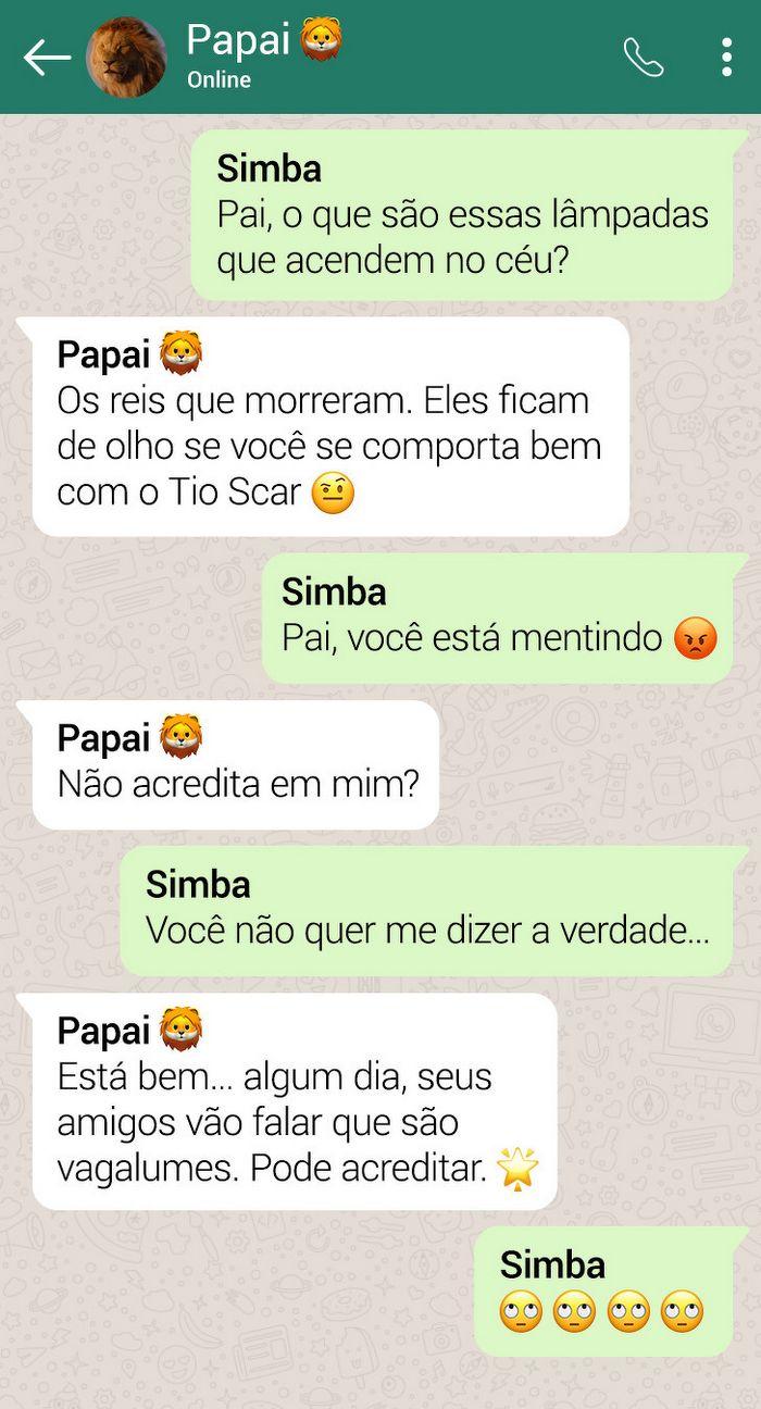 15 conversas dos personagens do Rei Leão pelo WhatsApp 11