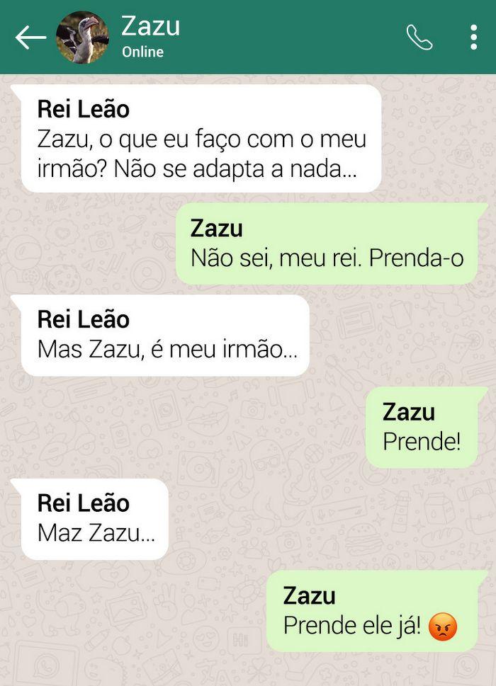 15 conversas dos personagens do Rei Leão pelo WhatsApp 14