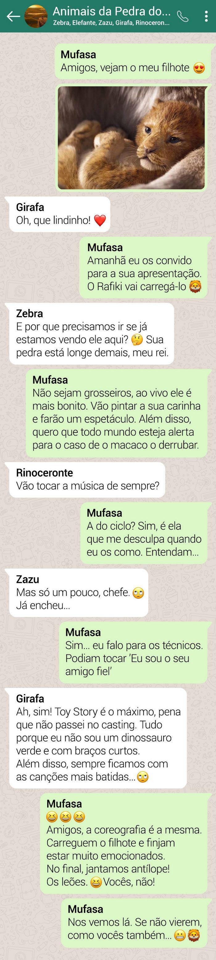 15 conversas dos personagens do Rei Leão pelo WhatsApp 17