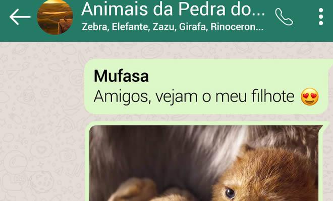 15 conversas dos personagens do Rei Leão pelo WhatsApp 7