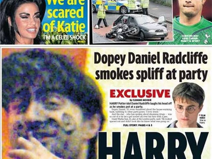 5 fatos estranhos que aconteceram com Daniel Radcliffe 6