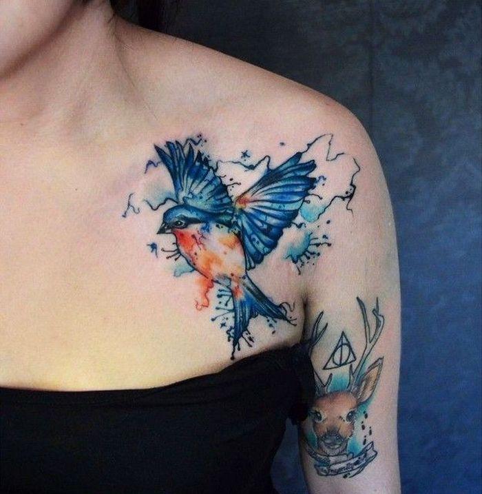 32 ideias de tatuagens estilo aquarela 2