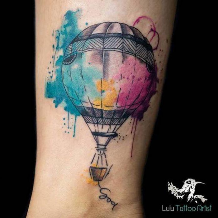 32 ideias de tatuagens estilo aquarela 7