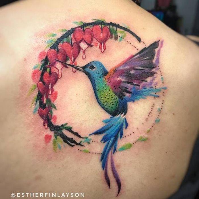 32 ideias de tatuagens estilo aquarela 8