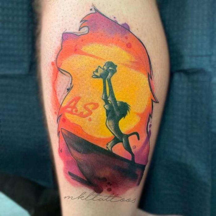 32 ideias de tatuagens estilo aquarela 10
