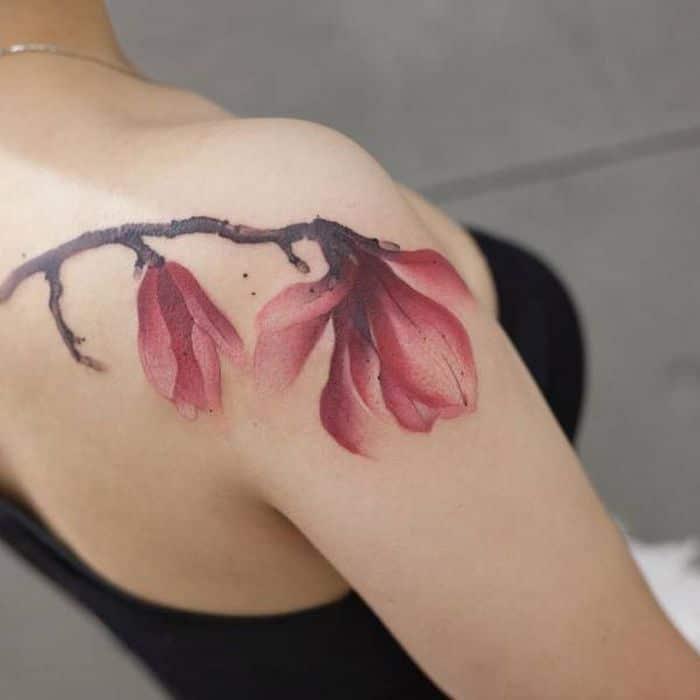 32 ideias de tatuagens estilo aquarela 12