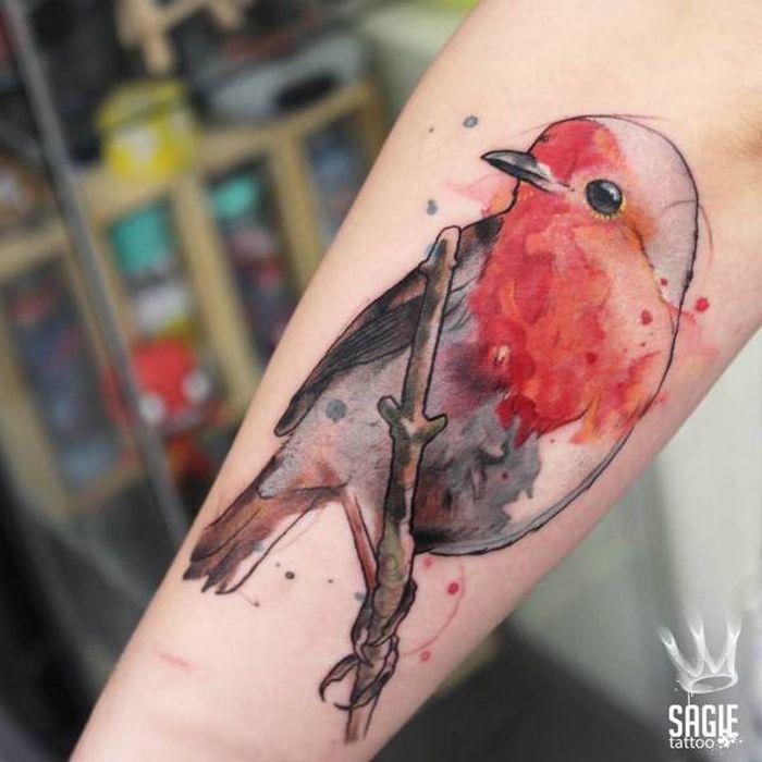 32 ideias de tatuagens estilo aquarela 14