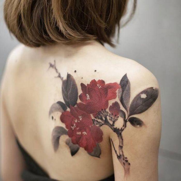 32 ideias de tatuagens estilo aquarela 16