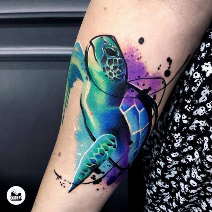 32 ideias de tatuagens estilo aquarela 20