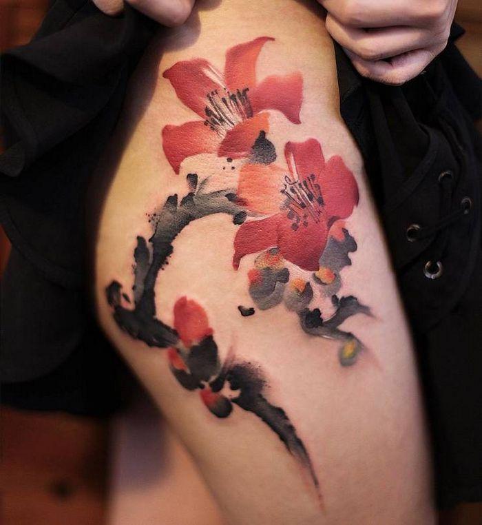32 ideias de tatuagens estilo aquarela 21