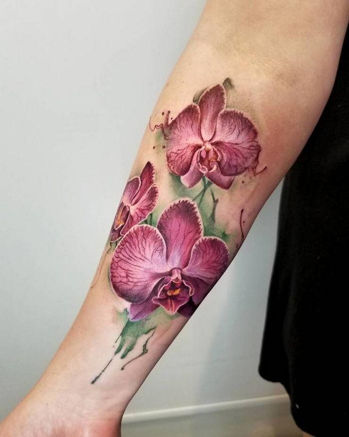 32 ideias de tatuagens estilo aquarela 22