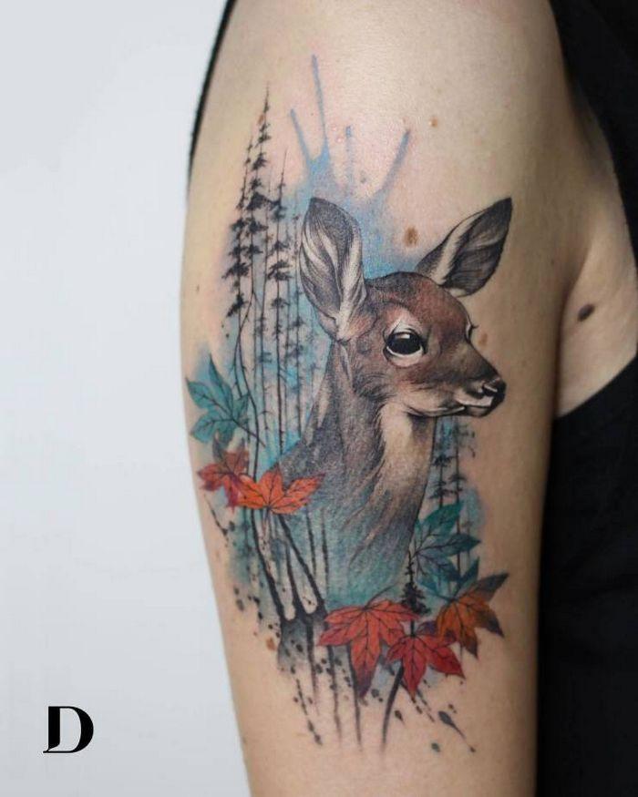 32 ideias de tatuagens estilo aquarela 26