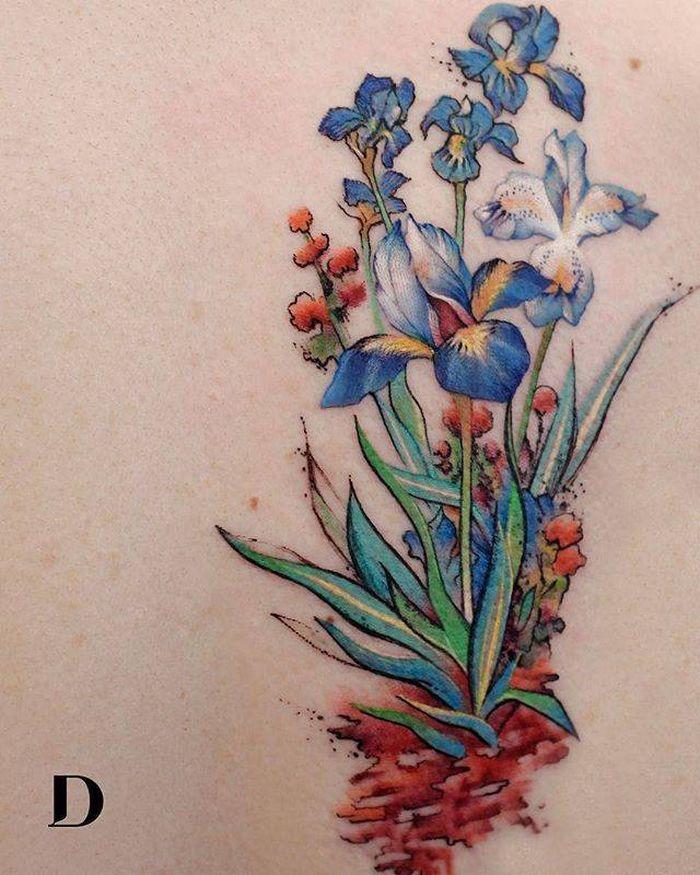 32 ideias de tatuagens estilo aquarela 27