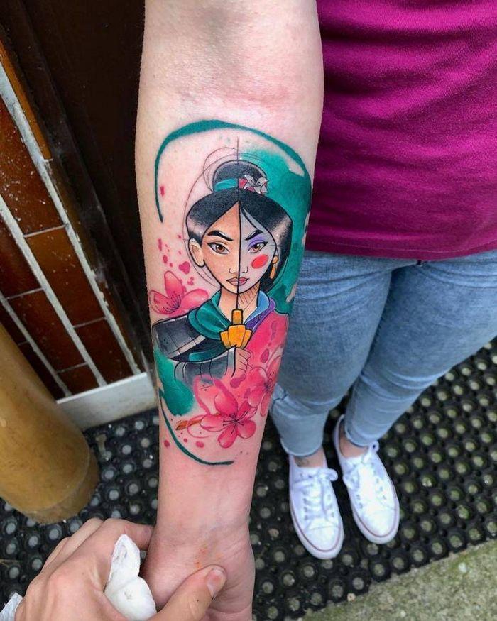 32 ideias de tatuagens estilo aquarela 28