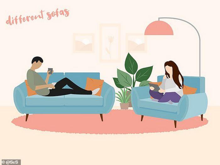 Descubra que a sua posição no sofá diz sobre o seu relacionamento? 3