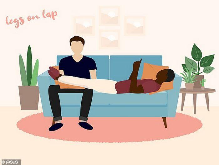 Descubra que a sua posição no sofá diz sobre o seu relacionamento? 4