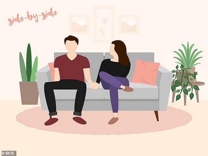 Descubra que a sua posição no sofá diz sobre o seu relacionamento? 5