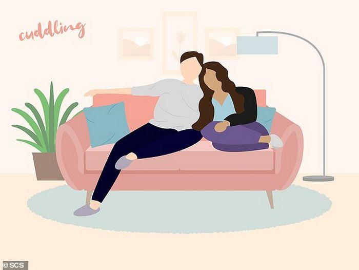Descubra que a sua posição no sofá diz sobre o seu relacionamento? 7