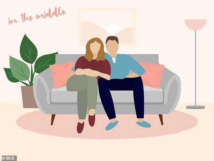 Descubra que a sua posição no sofá diz sobre o seu relacionamento? 8
