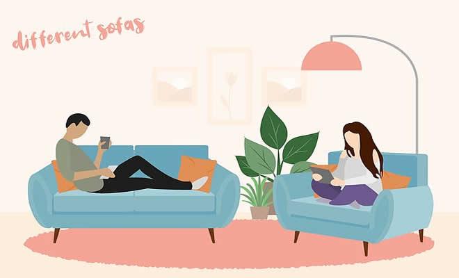 Descubra que a sua posição no sofá diz sobre o seu relacionamento? 1