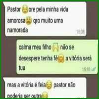 Pedindo oração para o pastor